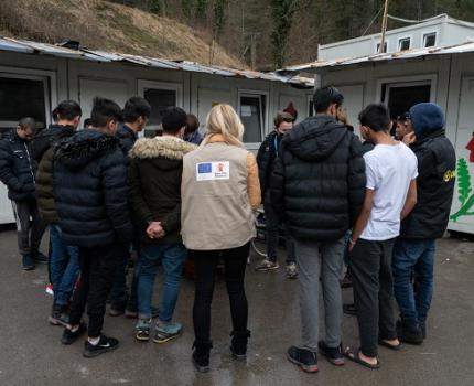 Let's hear it from the boys – how we support unaccompanied refugee and migrant children to act together and improve their lives in the camps in Bosnia